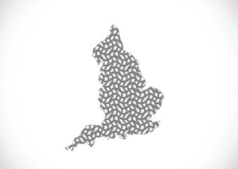 map of  England  Decorative idea design