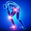 Anatomy of male joint pain in blue - 63573354