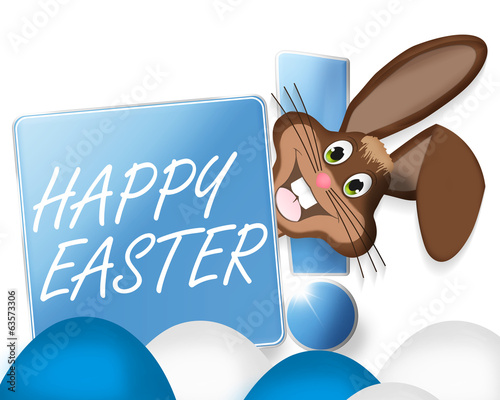canvas print picture Happy Easter Bunny