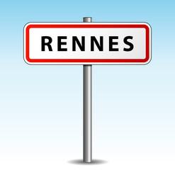 Panneau de ville Rennes