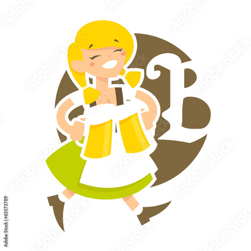 Funny bavarian girl