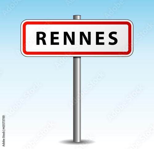 Panneau de ville rennes fichier vectoriel libre de for Tarif piscine rennes