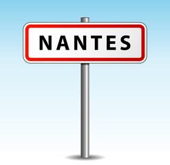 Panneau de ville Nantes