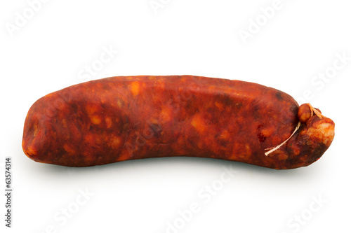 spanish sausage isolated