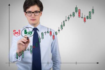 Businessman buying shares
