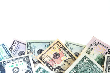 A border of American money