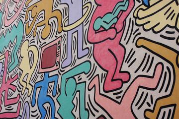 Murale di Keith Haring Tuttomondo a Pisa