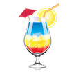 Colorful cocktail vector illustration