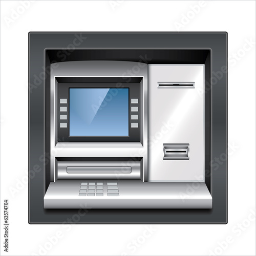 Atm machine vector illustration