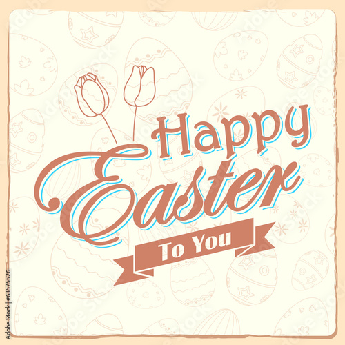 Happy Easter typography background