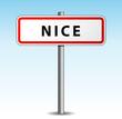 Panneau de ville Nice