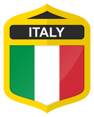 Italy - Golden shield icon with national flag