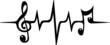 Musik Noten Frequenz Puls