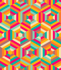 Hexagon mosaic pattern