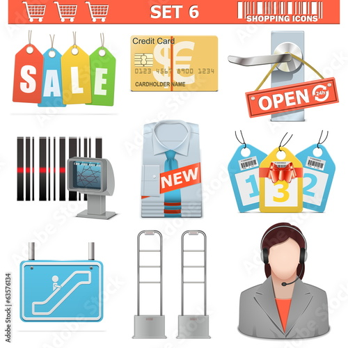 Vector Shopping  Icons Set 6