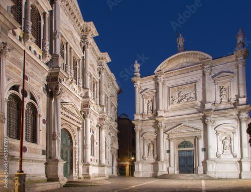 Venice - Scuola Grande di San Rocco and church Chiesa San Rocco