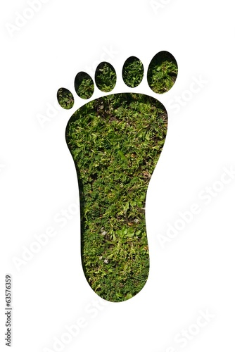 cut out foot on grass