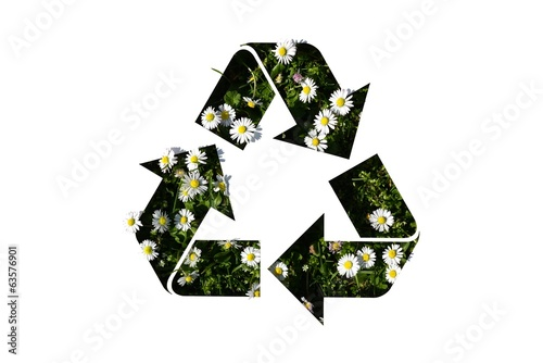 recycle symbol on daisy