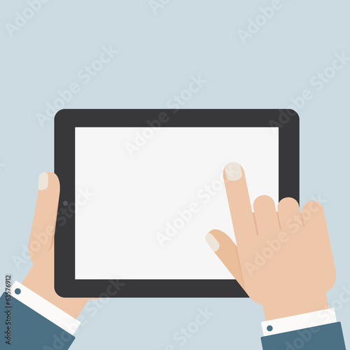 flat blank tablet touch