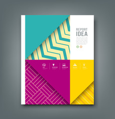 Report design, colorful pattern fabrics design