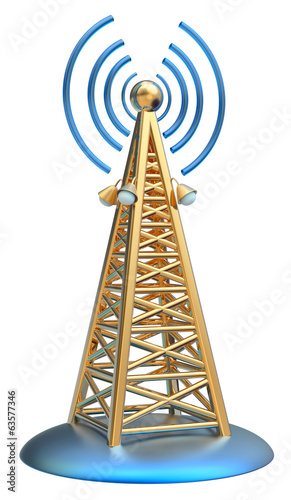 digital transmitter sends signals from high tower