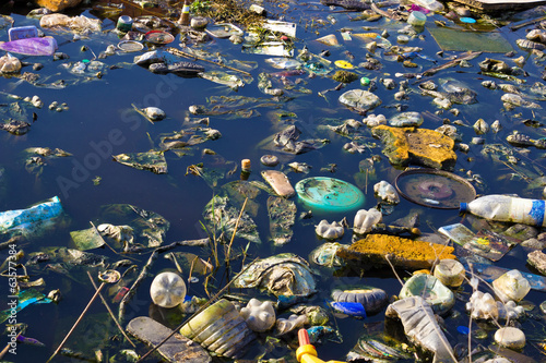 Foto op Aluminium Rivier Environment pollution