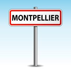 Panneau de ville Montpellier