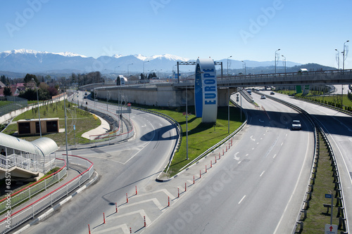 Road junction in Sochi, Russia