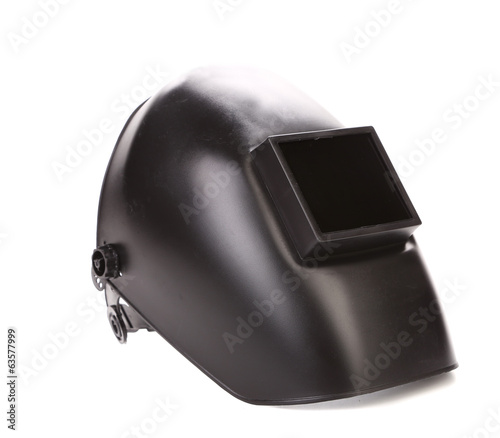 Black welding mask.