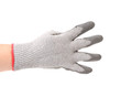 Hand in gloves shows four.