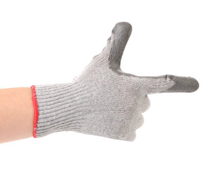 Hand in gloves shows one.