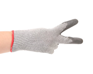 Hand in gloves shows two.