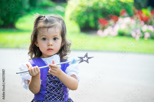 little girl with a scepter