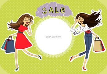 Sale advertisement, invitation banner