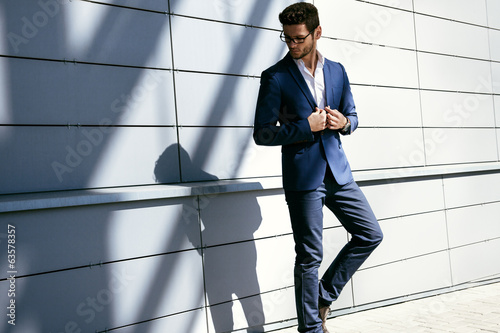 Portrait of businessman in an urban setting