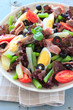 Mediterranean salad with anchovies and olives