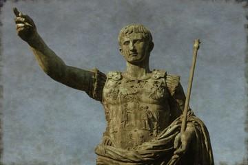 Roman emperor Augustus in Rome, Italy - Vintage