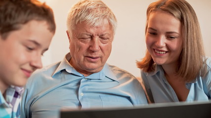 Teenagers and Grandpa