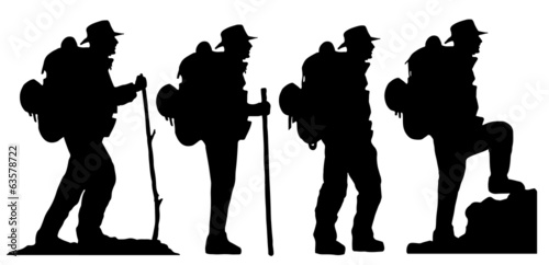 hiker2 silhouettes - 63578722