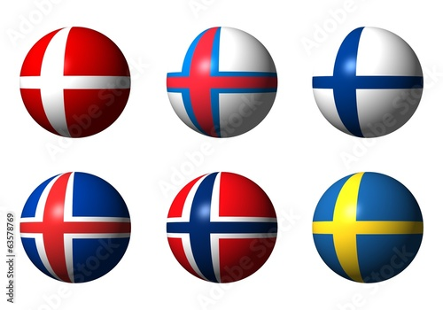 Collage of Scandinavian flags