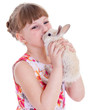 little girl with adorable rabbit