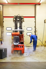 Forklift Cleaning