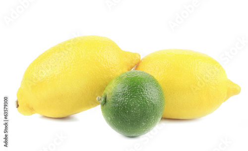 Fresh lemons and lime.