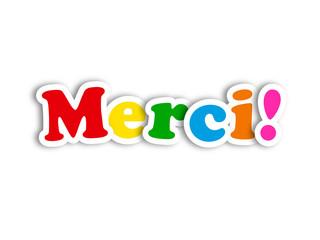 """""""MERCI"""" (carte message remerciements gratitude amitié plaisir)"""