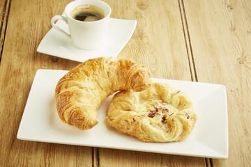 Croissant and custard crown