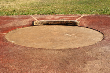 old shot put circle and  field