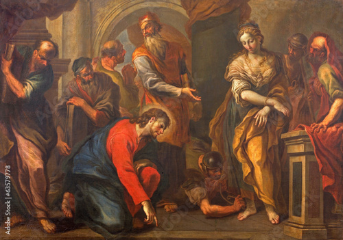 Treviso - Jesus and the sinful woman in saint Nicholas church