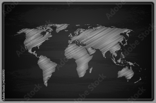 World Map - Chalkboard.