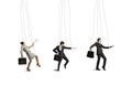 businessmen puppets