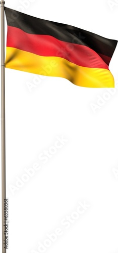 Digitally generated german national flag